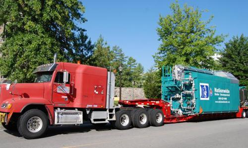 82,500 Trailer-Mounted Boiler Rental - Duke University
