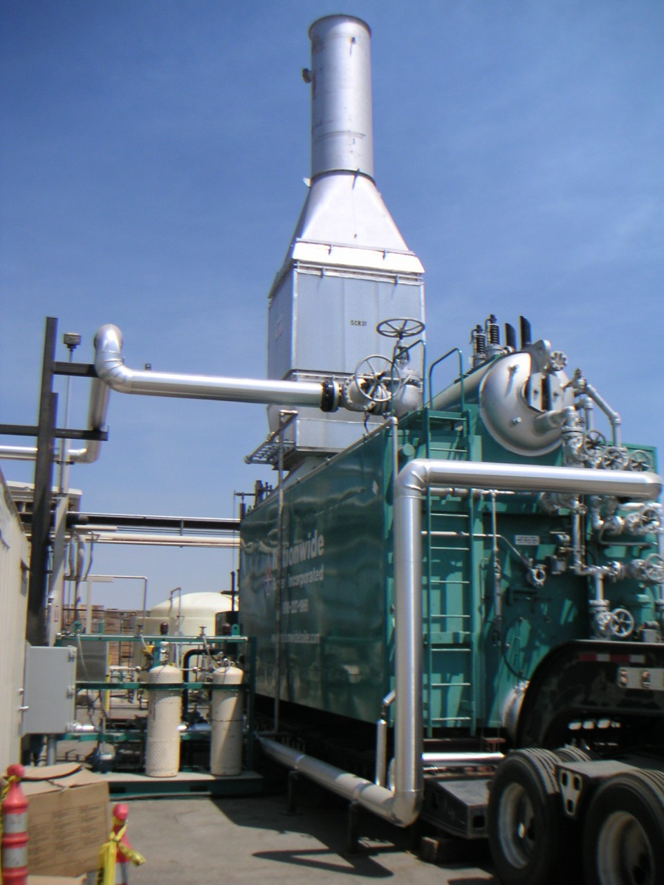 Trailer-Mounted Boiler with Non-Return Valve