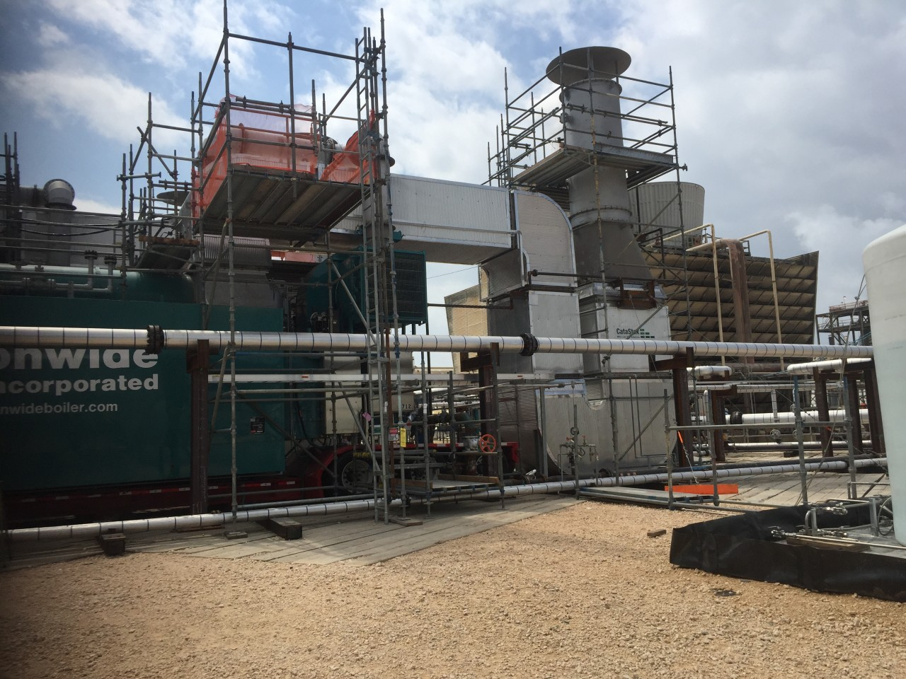 75,000pph Boiler with Urea-Based SCR System for Ultra Low NOx