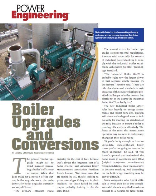 Boiler Upgrades & Conversions - New Article in Power Engineering
