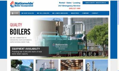 New Website Launched for Nationwide Boiler Inc.