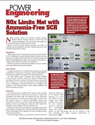 Power Engineering Publication - NOx Limits Met with Ammonia-Free SCR Solution