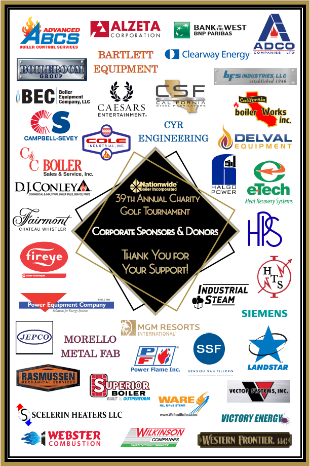 39th Annual Golf Sponsors